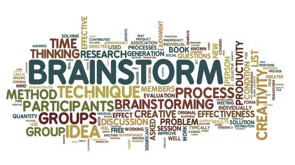 Brainstorm in word tag cloud